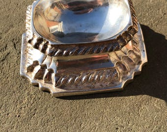 Ca 1730 Trencher Salt in Sterling Silver