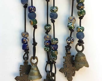 Tribal Beads, Pendants and Bells Wind Chime