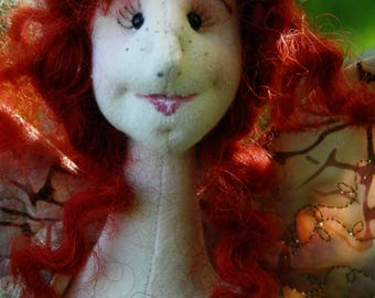 Fairy, woodland creature, handmade, doll, one of a kind, whimsical