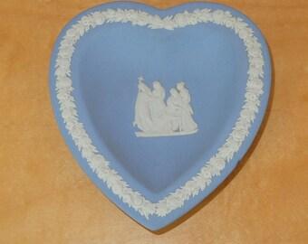 Wedgewood Heart Shaped DIsh Procession Scene Jasparware 1975