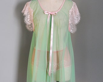 Ostara Tulle and Lace Babydoll