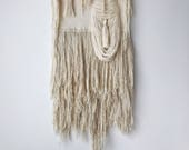 if & when | large handwoven wall hanging | textural weaving