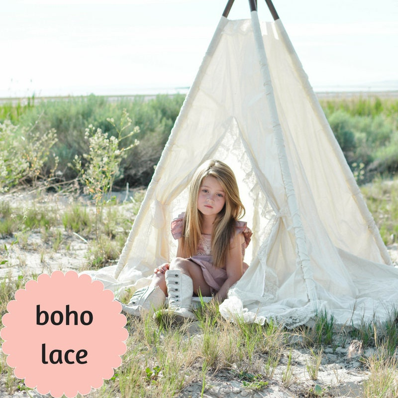 sc 1 st  Kids Teepees Teepee Tents Girls Teepees Baby Teepees & Play Tent for Girls - Timeless Indoor Teepee Tent with Mat for Kids