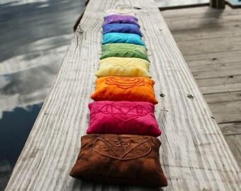 Chakra Pillows - Chakra Balancing - Crystal Healing Set - Meditation Tools - Crystal Grid - Reiki Tools - Chakra Decor - Chakra Stone Set