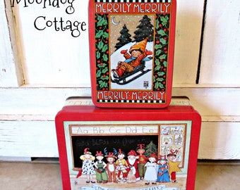 Mary Engelbreit Whimsical Christmas Tins - 1986