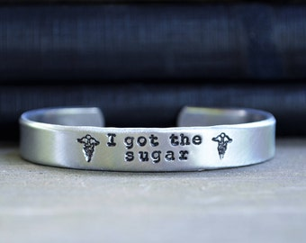 Diabetes Medical Alert Bracelet - Diabeetus Bracelet - I Got the Sugar -  Gifts Under 25 - Stocking Stuffer - Funny