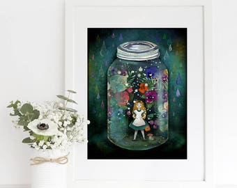 Garden in a jar (Alice in Wonderland) - Deluxe Edition Print
