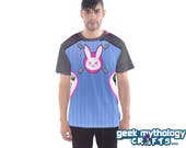 D Va Inspired Cosplay Sports Mesh Jersey T-Shirt Unisex Men's or Women's PREORDER