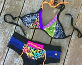 Sweet Quilted Triangle Swim Top