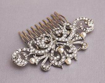 Bridal Hair comb, Wedding Hair comb, Bridal Hair Jewelry, Crystal Hair comb, Rhinestone Haircomb, Bridal Head Piece, Wedding Hairpiece