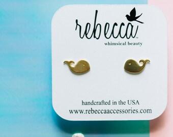Whale Dainty Post Earring