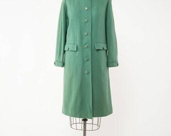 Vintage 1950s Green Coat, 50s Wool Coat, Celadon Green, Lightweight Coat, Green Tweed Coat, Fall Coat, Winter Coat, Size Medium