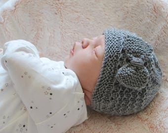 0 - 3 Months Baby Girl Knit Hat, Photo Prop, Beanie , Coming Home, Pick Colour, Baby Shower, New Mum, Uk Hat, Bow Hats
