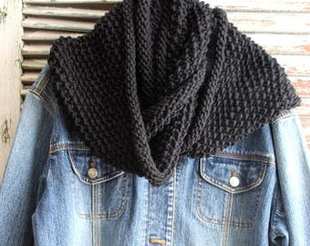 Chunky Wool Infinity Scarf Hand Knit Circle Scarf by avintageobsession on etsy...FREE USA Shipping
