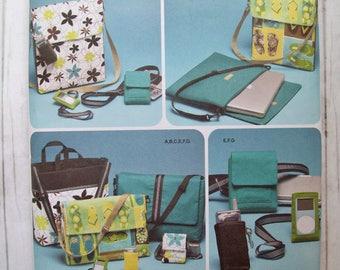 SALE - Simplicity 4391, sewing pattern, messenger bag, laptop bag, phone case, tote bag, cell phone case, camera case, electronics pattern