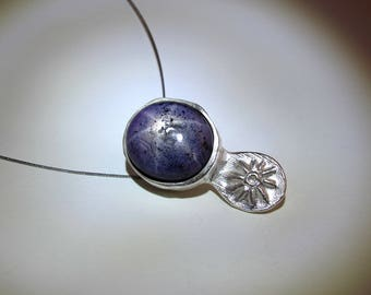 Star Ruby Pendant Sterling Silver Pendant With Natural Star Ruby Necklace