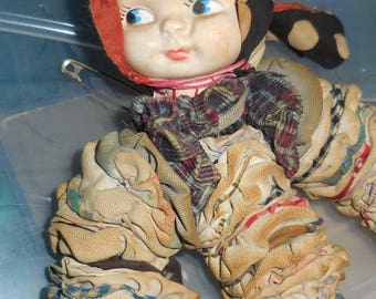 Old and Tattered YoYo Doll Sidelong Glance Doll Face Creepy Doll  Artist Inspiration