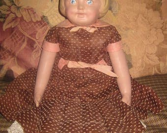Vintage Reproduction Martha Chase Girl Doll