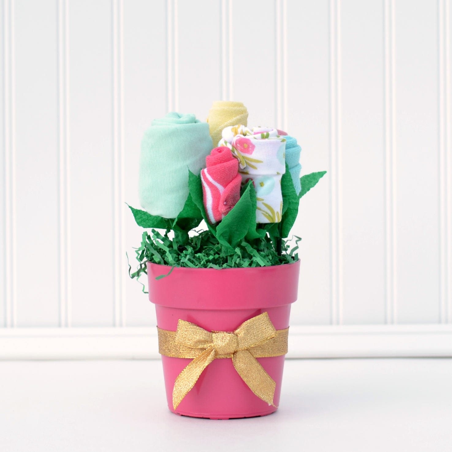 Baby Gift Basket Flowers : Baby girl hospital gift new basket flower bouquet