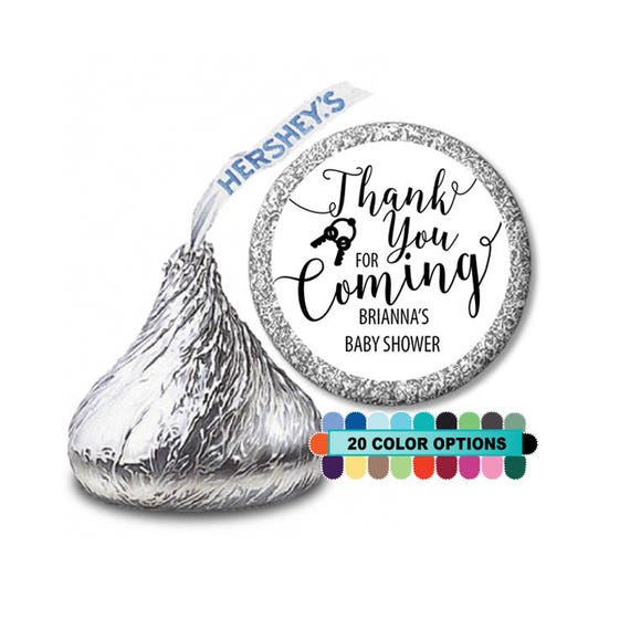 Thank You For Coming Personalized Round Baby Shower Hershey Kiss