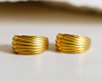 70s Vintage Creole Earrings
