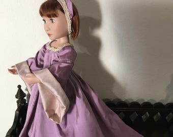 Medieval Style Silk Dress for 16 inch doll