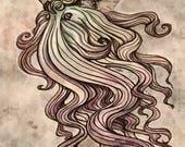 Wizard Beard Moth - Origi...