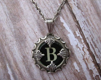 Typewriter Key Jewelry - Typewriter Charm - Letter B