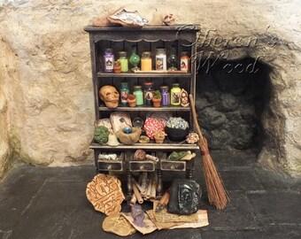 Witch's Cupboard, Alchemist, Wizard Paraphernalia, Potions