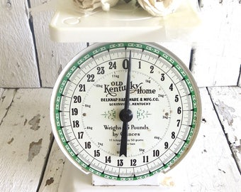Vintage Scale, Farmhouse Decor, Kitchen Scale, White Scale, Old Metal Scale, Modern Farmhouse, Old Kentucky Home, Utility Scale,Rustic Scale