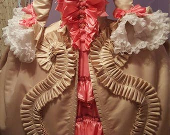 Robe a la francaise, 18th century sacque back gown