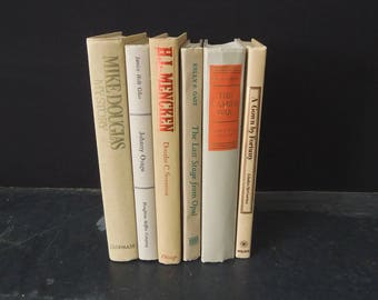 Books by Color - Beige Tan Books for Decor - Vintage Neutral Books - Book Stack - Bookshelf Decoration