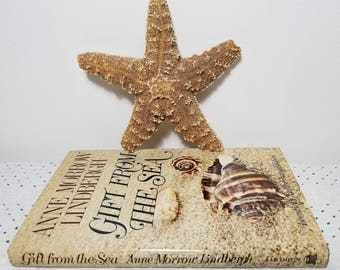 Vintage Gift From the Sea by Anne Morrow Lindbergh, 20th Twentieth Anniversary Edition (c) 1955, 1975 HC DJ Book. Gifts for her under 30.