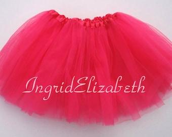 Neon Pink Tutu, Neon Pink Toddler Tutu, Neon Pink Ballet Tutu, Pink Tutu Skirt, Neon Pink Girls Tutu, Neon Pink Dance Tutu, Tulle Skirt