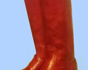 Women's Vintage tall Reddish Frye Riding Boots Sz 6.5 - 7