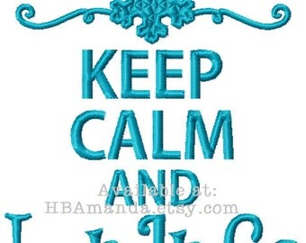 Keep Calm and LET IT GO - Frozen themed hand towel - Monogram Gift towel