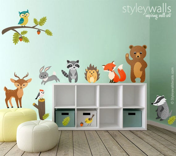 Like this item? & Woodland Animals Wall Decal Forest Animals Wall Decal