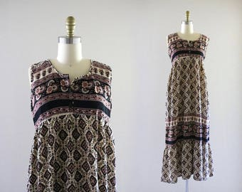 1970's nepalese cotton dress
