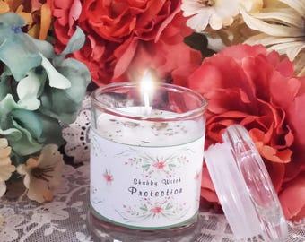 3.oz Votive Protection Candle, Jar Candle, Altar Candle