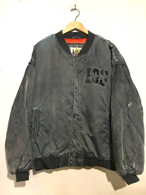 I.O.U. Euro-Mode Satin Bomber Jacket