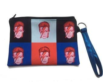 David Bowie as Aladdin Sane Fan Art Zippered Bag by SBMathieu