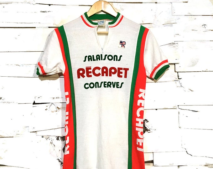 Vintage 1960's European Cycling Jersey Shirt - Small