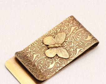 Money Clip For Women, Womens Money Clip, Butterfly, Stocking Stuffer, Christmas Gifts