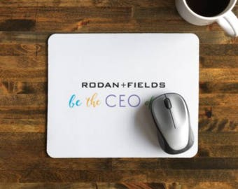 Be the CEO of You Mousepad  | gift, Bossbabe, R+F, friend, salon, office, desk