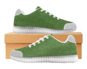 Turf LED Light Up Shoes | Boys Girls Womens Sizes | High Stretch Upper | EVA + Mesh Fabric Insole | 7 Colors | Bold Street Artist Design
