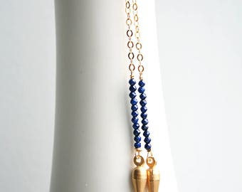 Lapis Lazuli Earring, Blue Earrings, Spike Earrings