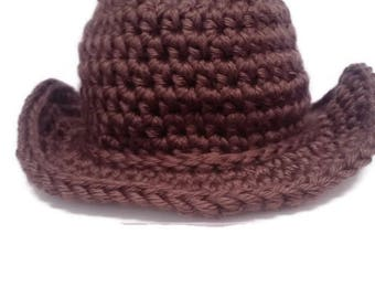 Cowboy / Cowgirl Hat For Baby Crochet