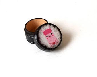 Llama Powder Box, Valentine's Day, Heart, Llamas, Wood Box, Wooden Boxes, Pink, Gift Box