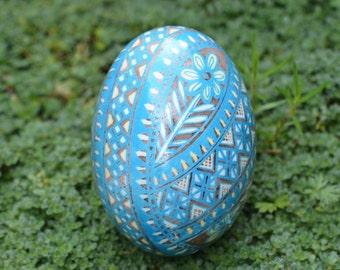 Pysanka by Katya Trischuk experimental design development on duck egg