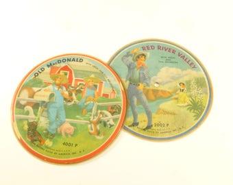 Record Guild of America Children's Songs 78 RPM Album Lot